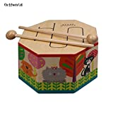 CLKjdz Orff world Cartoon Wood Hand Drum Beating Musical Instrument with Three Tone SYG(S)