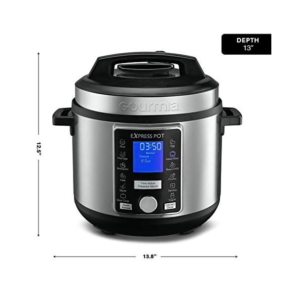 Gourmia GPC965 Digital Multi-Functional Pressure Cooker - Automatic Pressure Release - Adjustable Pressure Control - 13… 7