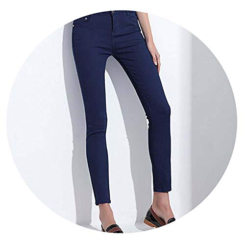 Time Vitality Coast Women's Candy Pants Pencil Trousers Stretch Slim Jean Trousers,Dark Blue,25 (Coast Trousers)