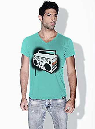 Creo Music Radio Trendy T-Shirts For Men - M, Green