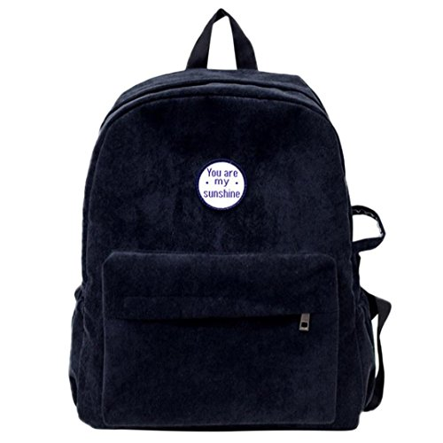 Travel Backpack Vibola Women Girls Preppy Corduroy Shoulder Bookbags School bag (Corduroy Diaper Cover)