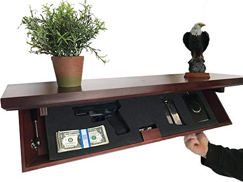 Metal Art of Wisconsin Medium Freedom Shelf with Invisible RFID Lock and Key Cards (Walnut)