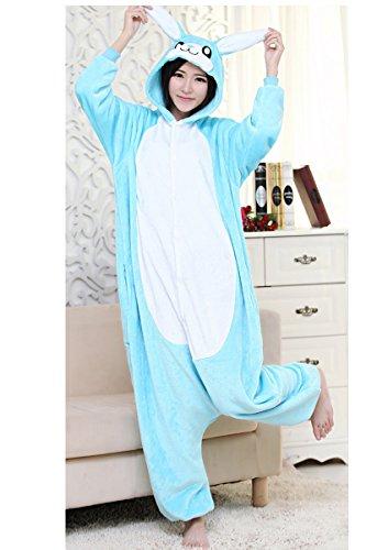 XMiniLife Blue Rabbit Unisex Adult Halloween Kigurumi Onesie/S (Adult Lilo Costume)
