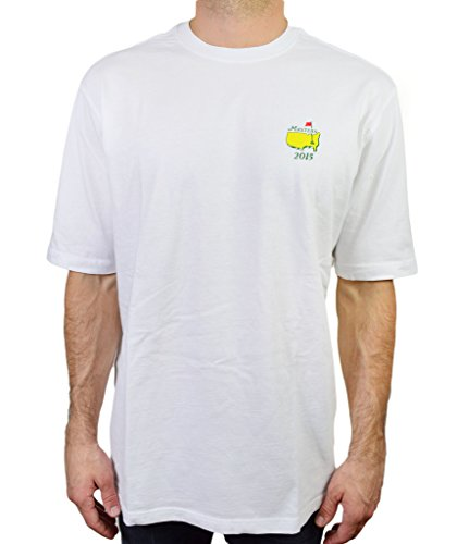 Masters Men's T Shirt Augusta Collection Champions 2015 Tee, White, Size Medium (The Masters Golf Tshirt compare prices)