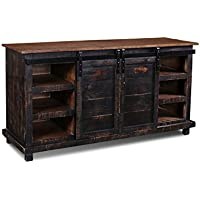 Westgate Black 66 sliding Barn Door TV Stand / Media Console