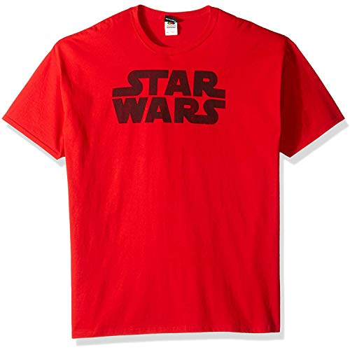 Star Wars Men's Simplest Logo Graphic Tee, RED, 3X-Large