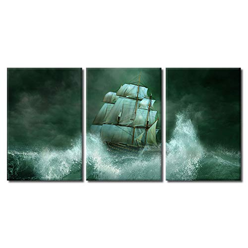wall26 - Ship in The Sea - Canvas Art Wall Decor - 24