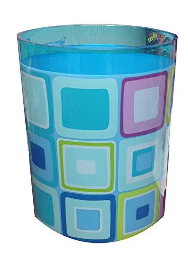 York Zone Blue Design Round Waste Basket (Rosewood Wastebasket)
