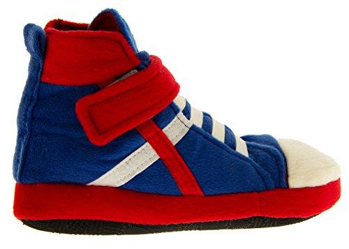 De Fonseca Niñas Zapatillas de Baloncesto Deslizador Botas Azul,rojo
