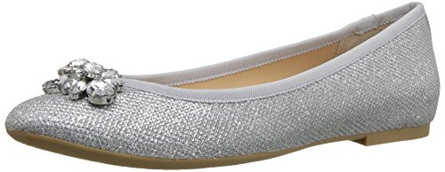 high quality sale online Badgley Mischka Jewel Women's Cabella Ballet Flat Silver low shipping fee sale online 3B0DZl