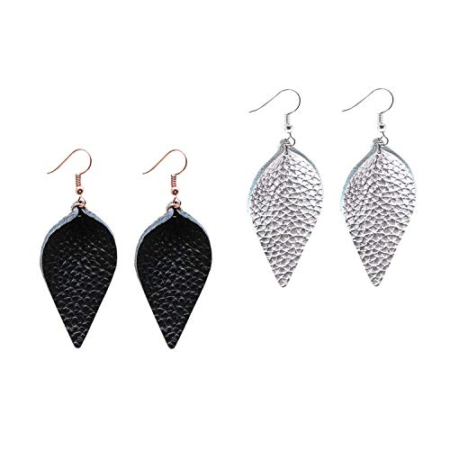 Top fashion jewelry leather earrings