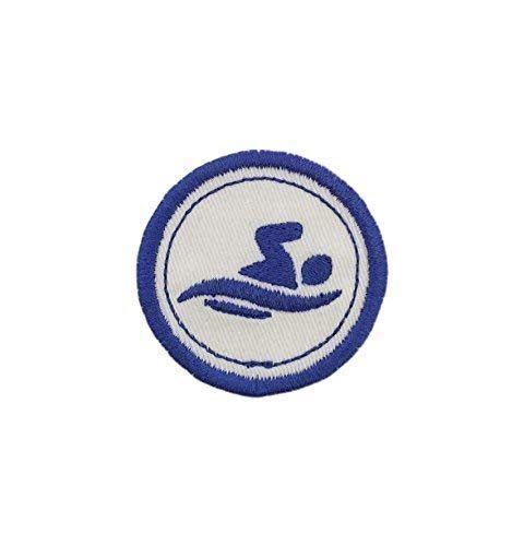 Merit Badge Patch 2 Iron On Swimming Patch