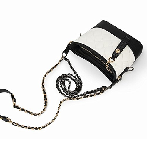 colored Shoulder White Square Bag Female Lingla Strap Color Bag Chain Multi Bag Shoulder Metal Messenger pxqpI6Ew