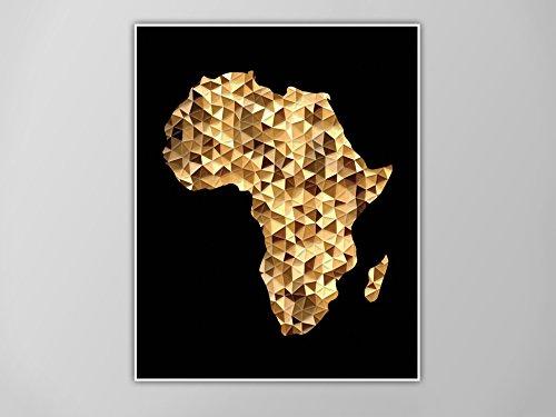 Amazon.com: Africa Art Print, Africa Map Print, Africa Map Art