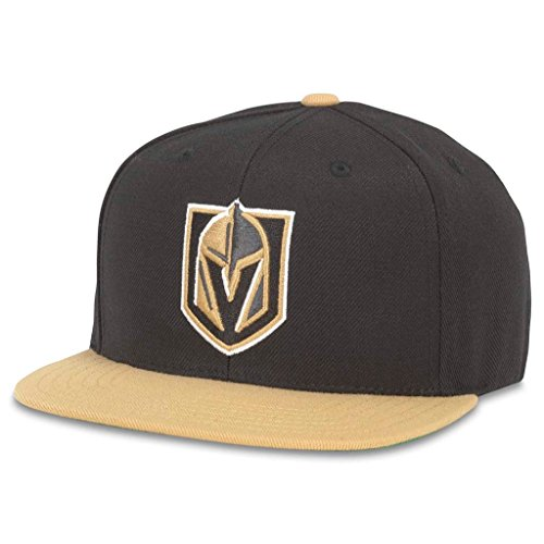 (American Needle 400 Series NHL Team Hat, Las Vegas Golden Knights, Black/ Gold (400A1V-VGK))