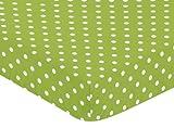 Fitted Crib Sheet for Spirodot Baby/Toddler Bedding by Sweet Jojo Designs - Polka Dot