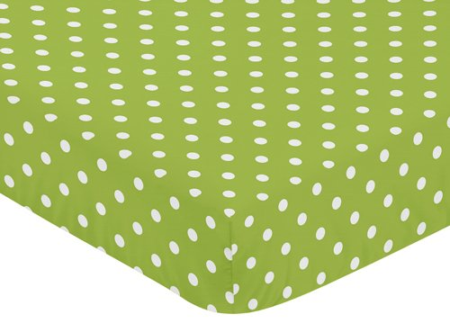 Sweet Jojo Designs Fitted Crib Sheet for Spirodot Baby/Toddler Bedding - Polka Dot (Infant Polka Dot Sheets)