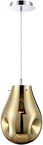 Eurofase 34288-030 Benalto Hand-blown Gold Glass Pear-Shaped Pendant Light