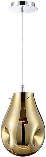 Eurofase 34288-030 Benalto Hand-blown Gold Glass Pear-Shaped Pendant Light