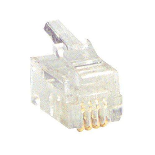Parts Express Handset 4C Modular Connectors 10 Pcs.