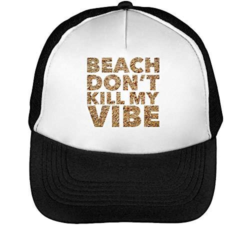 Don T Beach Snapback Kill My Beisbol Vibe Blanco Gorras Hombre Negro HddaRw c24c18d4d24
