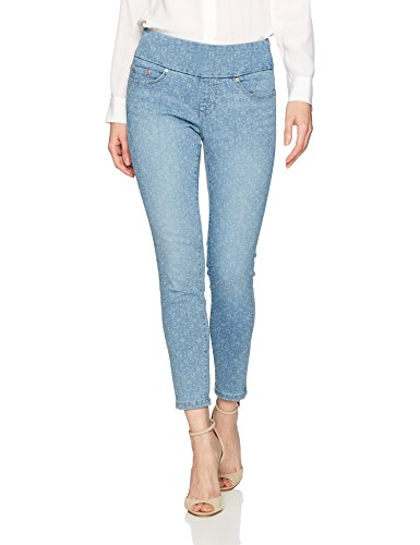 Jag Jeans Women's Nora Skinny Pull on Ankle Jean, Scroll Laser Print, 4