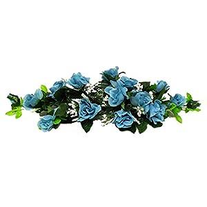 Rose Swags MANY COLORS Silk Wedding Flowers Chuppah Arch Gazebo Centerpiece 7