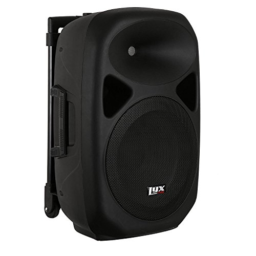 LyxPro SPA-12BAT Battery Powered Active Speaker Portable PA System Built In EQ & Rechargeable Battery, Bluetooth, MP3, USB, SD, 1/4'', 3.5mm by LyxPro