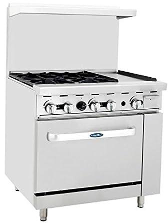 Amazon Com Atosa Range 36 In Gas Range  Right Griddle 26 Oven Industrial Scientific