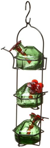 Lunchpail 3 Hummingbird Feeder Green