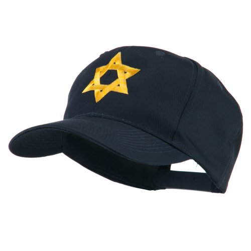e4Hats.com Jewish Star of David Embroidered Cap - Navy OSFM for $<!--$19.49-->