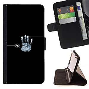 Momo Phone Case / Flip Funda de Cuero Case Cover - Identidad Fingeprint;;;;;;;; - Samsung Galaxy S5 Mini, SM-G800