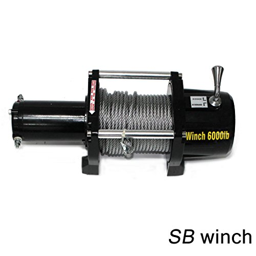 VioletLisa 6000lb / 2722kg Capacity 12V Electric Recovery Waterproof Winch With Wired Switch & Wireless Remote for Pickup Truck Car SUV Jeep Trailer Boat by VioletLisa (Image #1)