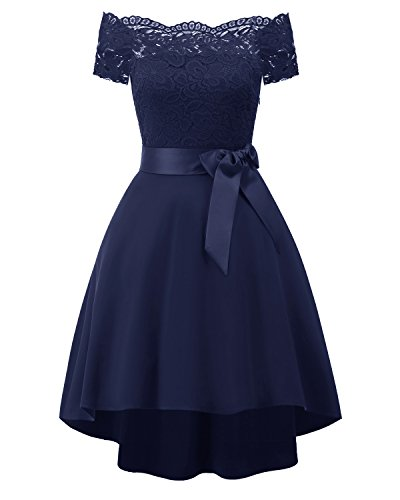 EvoLand High Low Short Prom Bridesmaid Dresses For Juniors Girls Dresses 7-16 Navy - Price Junior