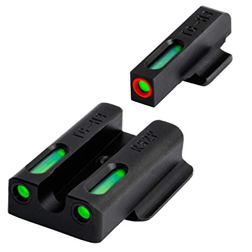 TRUGLO TFX Pro Tritium and Fiber Optic Xtreme Handgun Sights for Ruger Pistols, Ruger LC9 / 9s / 380