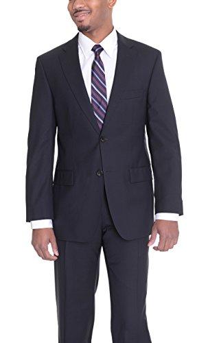 Super 120 Wool Suit (The Suit Depot Hugo Boss Aikonen/hoi Slim Fit Solid Navy Blue Super 120's Wool Suit)