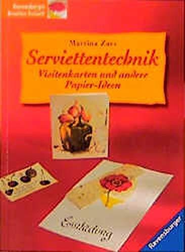 Price comparison product image Serviettentechnik. Visitenkarten und andere Papier- Ideen.