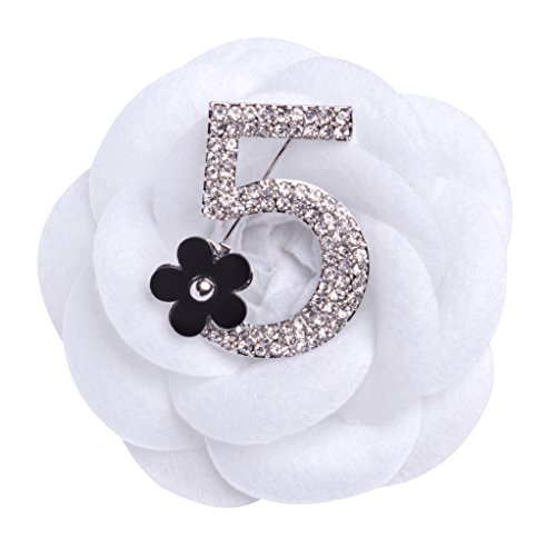 MISASHA-Silver-Plated-Number-Five-Pin-Brooch