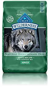 Blue Buffalo Wilderness Grain Free Dry Dog Food, Duck Recipe, 24-Pound Bag