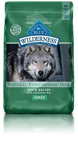 Blue Buffalo Wilderness High Protein Grain Free, Natural Adult Dry Dog Food, Duck 24-lb