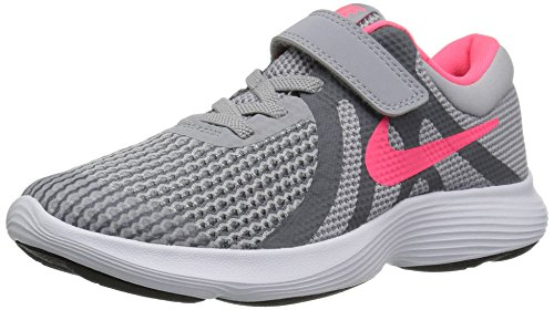 Nike Girls' Revolution 4 (PSV) Running Shoe, Wolf Racer Pink-Cool Grey-White, 11C Child US Little Kid (Best Running Shoes For Children)