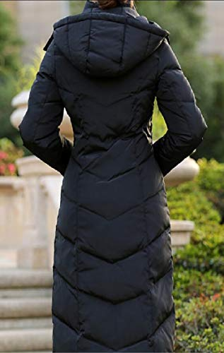 Lightweight Outerwear Down Black Puffer Long Jacket Hooded Windbreaker Coat Women's Outdoor security Xq5fZ
