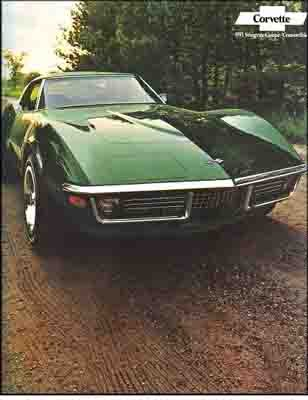 BEAUTIFUL 1971 CORVETTE STINGRAY COUPE SALES BROCHURE