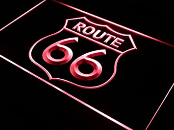 ADVPRO Cartel Luminoso i371-r Historic Route 66 Mother Road ...