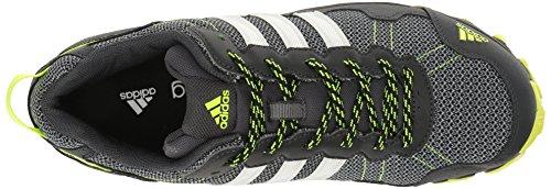 Adidas Mens Rockadia Trail M Scarpa Da Corsa Grigio Scuro / Bianco / Elettrico