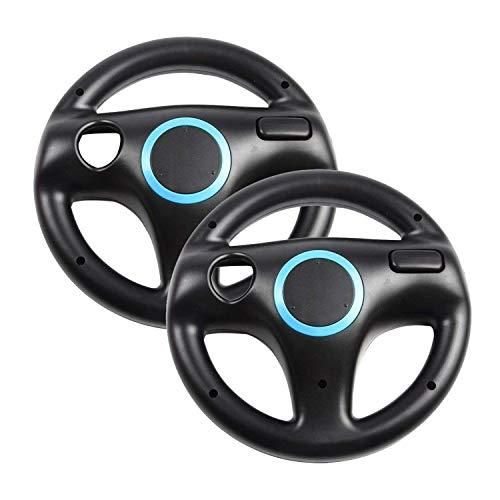 Generic 2 x Black Steering Mario Kart Racing Wheel for Nintendo Wii Remote Game ()
