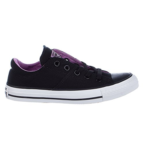 Converse Womens Chuck Taylor All Star Madison Lace Up Fashion Sneaker Shoe, Black/White/Fuchsia, 7