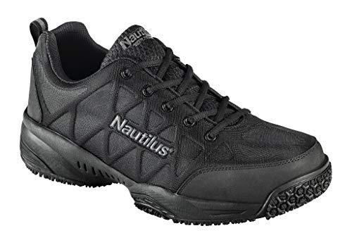 FSI FOOTWEAR SPECIALTIES INTERNATIONAL 2114 Comp Toe Light Weight Slip Resistant Athletic Shoe, Black, 12 W US (Nautilus Shoes)