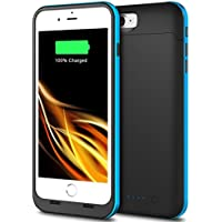 External Battery Charger Case for iPhone 7 Plus(5.5), Ultra Slim & Rechargeable Extended Backup Power Bank Charger Case with High Capacity 7000mAh (Blue)