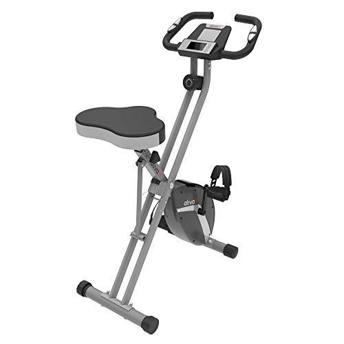 🥇 ATIVAFIT Bicicleta de Ciclismo Interior Plegable magnética Vertical Bicicleta estática giratoria reclinable Bicicleta de Ejercicio